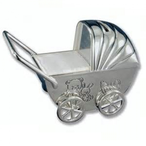 baby carriage personalised money boxes