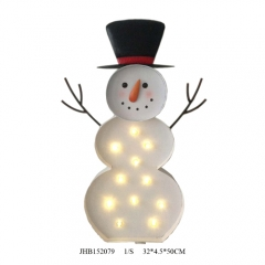 led snowman christmas sign lights