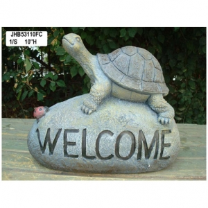 Resin tortoise Welcome Sign